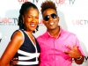 Amelia Moore & Tabou TMF on the red carpet at UBCTV's Lights Of Harlem TV Show taping at TAJ Lounge in NYC
